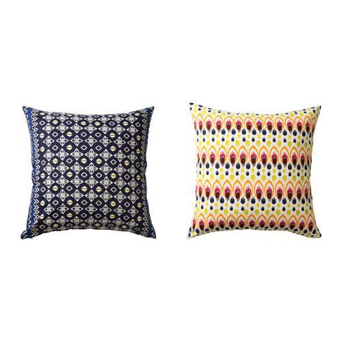 IKEA - JASSA, Poszewka, Dzięki zamkowi błyskawicznemu pokrowiec można łatwo zdejmować.Dwustronny - dwie identyczne strony umożliwiają równomierne zużycie.