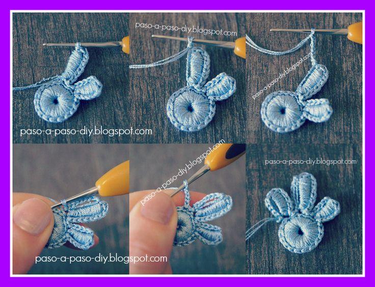 Flor de Tres Pétalos al Crochet - Paso 6