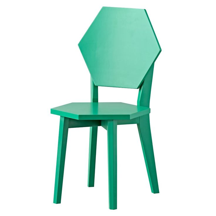 Polygon Green Kids Chairs | The Land of Nod