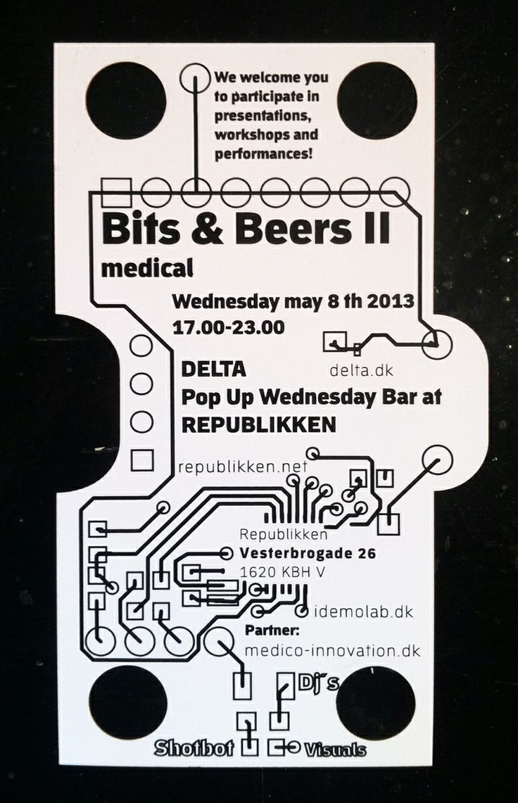 Lasercut invitation for Bits and beers