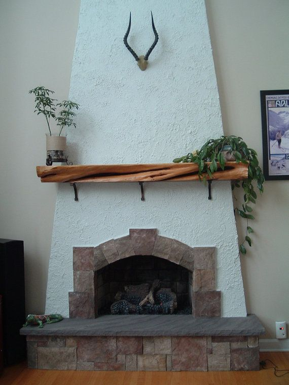 Cedar Slab Shelf Mantle By Jamesrobinson On Etsy 945 00 Fireplace Mantle Home