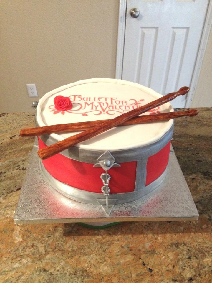 Bullet For My Valentine Drum Cake 1st Pinterest