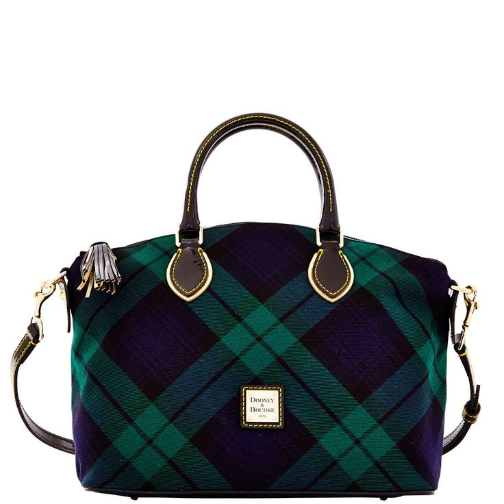 Dooney & Bourke Highland Woven Satchel / Black