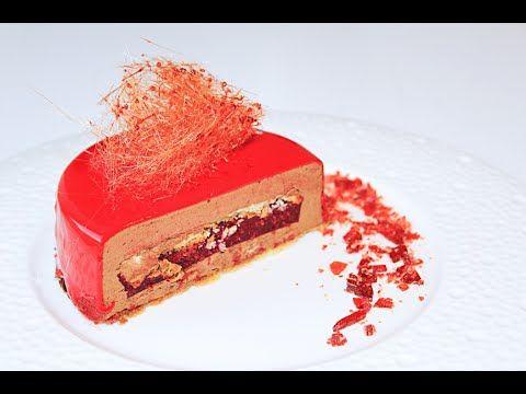 Шоколадный муссовый торт с зеркальной глазурью / Chocolate Mousse Cake w...