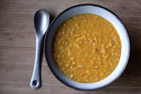 Vegan Yellow Split Pea Soup - one of my favorite soups. Love the curry in flavor in it!!