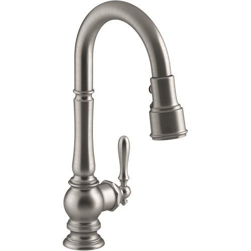 Butler Pantry Faucets Kohler Artifacts Pullout Spray High Arch 16 Kitchen Faucet With