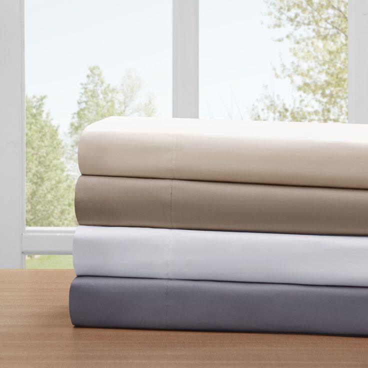 Sleep Philosophy Smart Cool Cotton Queen Size Sheet Set in