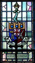 Stained glass window, chapel, Yeo Hall, Royal Military College of Canada, Kingston, Ontario, Canada