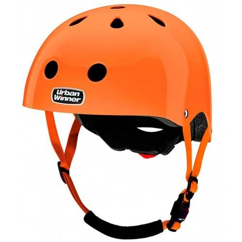 Neon Orange UrbanWinner cykelhjelm m. lys #OrangeCykelhjelm #Cykler #Børn #CykelhjelmTilBørn #CykelhjelmTilVoksne #UrbanWinner #FedCykelhjelm #Skater #Cyklist
