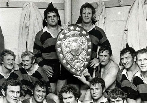 Canterbury team with the Ranfurly Shield, 1972