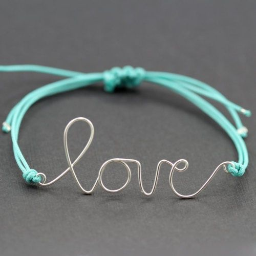 diy love bracelet. #diy #bracelet #love #silver
