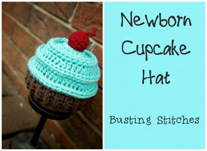 Newborn Cupcake Hat The pattern below can be viewed forFREE or you can purchase the PDF for $1 Materials: Red Heart Super Saver 3 colors Yarn Needle Size I 5.5 mm hook Abbreviations: Sl st-Slip Stitch Ch-Chain Sc-Single Crochet Sc2tog- SingleCrochet 2 Together Hdc-Half Double Crochet HdcBlo-Half Double Crochet Back Loops Only HdcFlo-Half Double Crochet …