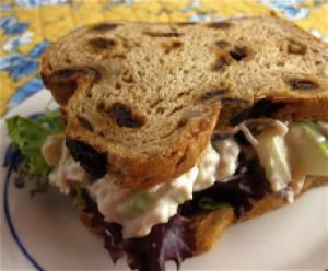 Best Cold Sandwich Recipes are Perfect for a Lunchbox or Quick Snack: Chicken Waldorf Sandwiches