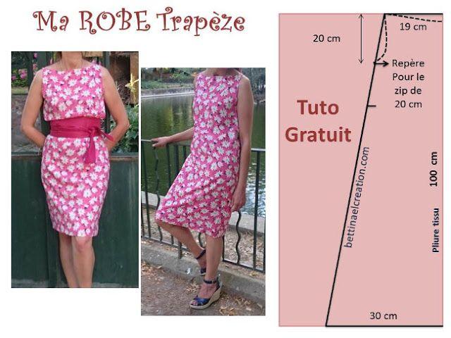 Diy une robe sans patron tutoriel gratuit Bettinael.Passion.Couture.Made in france