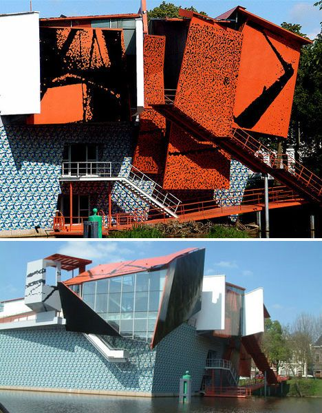 Groninger museum, Groningen, Netherlands -  Leading architect Alessandro Mendini, guest architects/designers: Michele de Lucchi, Philippe Starck, Coop Himmelb(l)au