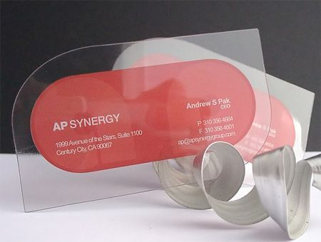 Ap Synergy - 20+ Examples of Stunning and Transparent Business Card Design #UniqueBusinessCards