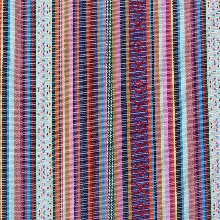 Mexicaanse stof Valancia, kleurrijke Mexicaanse stof van Stoffen Online. - Stoffen Online