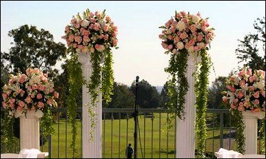 wedding entrance columns | Wedding Flowers from BELVIA'S BLOOMS FLORAL DESIGNS - your local Union ...