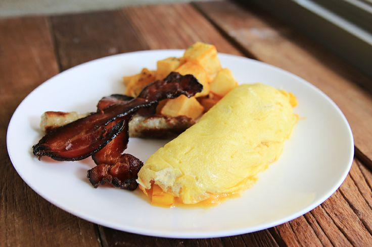 Denver Omelet with Bacon  Sausage