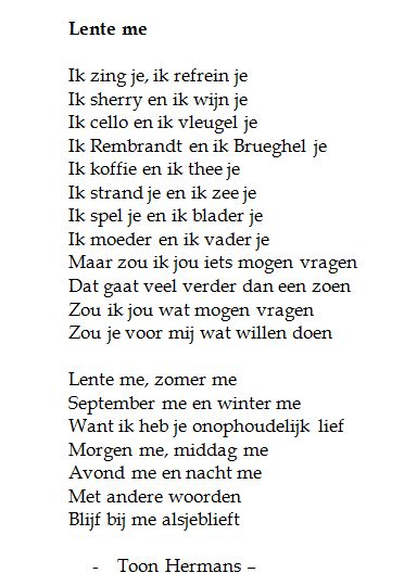 Zeer Genoeg Vriendschap Gedicht Toon Hermans UT65 | Belbin.Info #DZ01