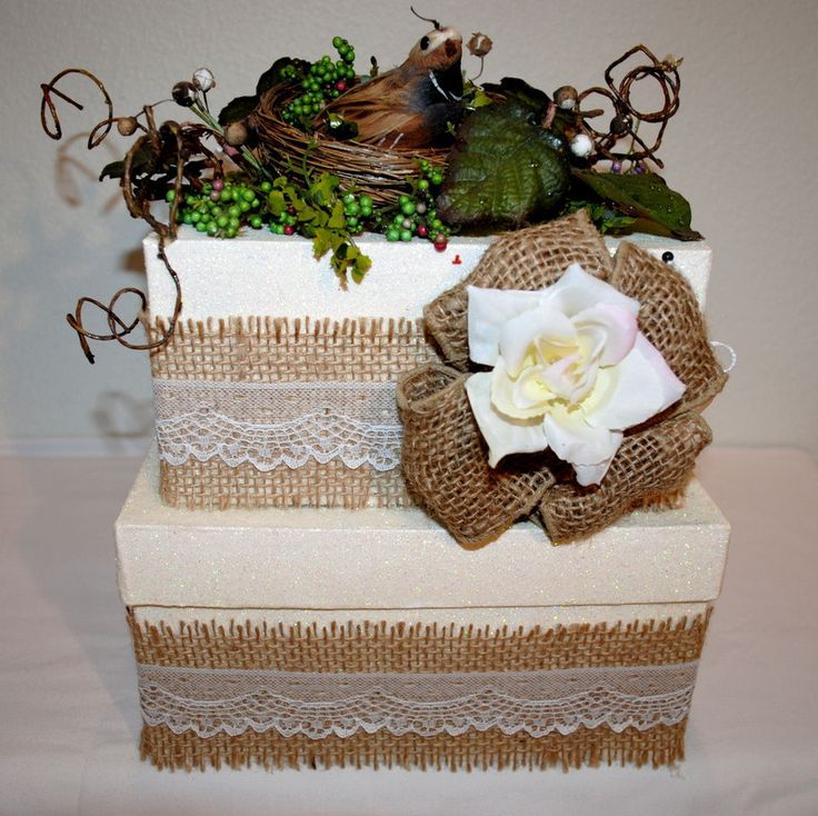 Nature's Best Wedding Card Box - 2 tier
