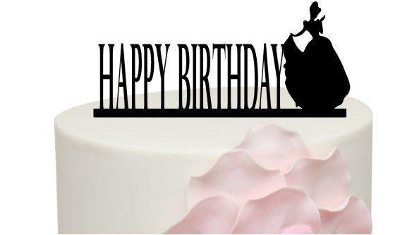 Princess Happy Birthday Cake Topper