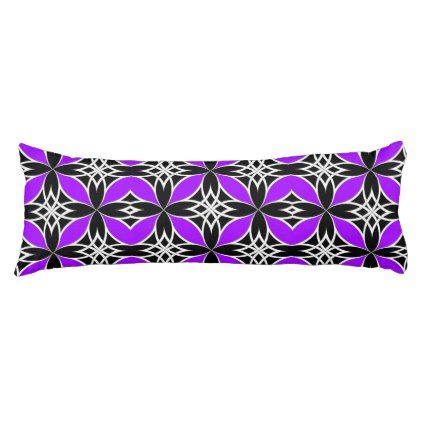 Mirrored Celtic ( Flutterby Purple ) Body Pillow - purple floral style gifts flower flowers diy customize unique