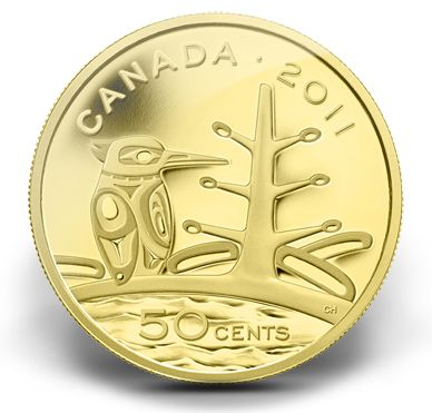 1/25 Ounce Pure Gold Coin - Boreal Forest (2011)