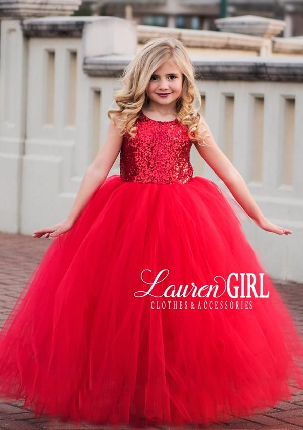 aa38fc801 Beautiful Red Princess Gown. Find this Pin and more on Red Flower Girl  Dresses ...