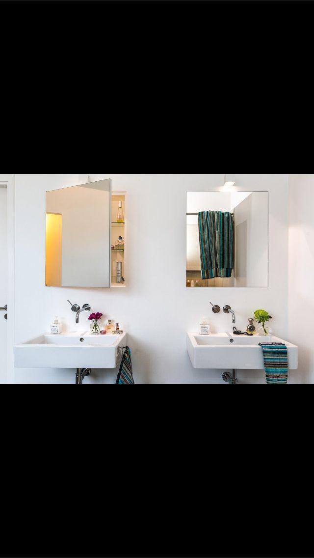 Inbyggda badrumsskåp