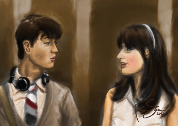"A scene from 500 days of summer. ""I Love The Smiths"""