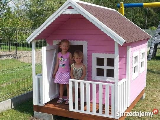 Domki drewniane dzieci piękne Kietlin sprzedam