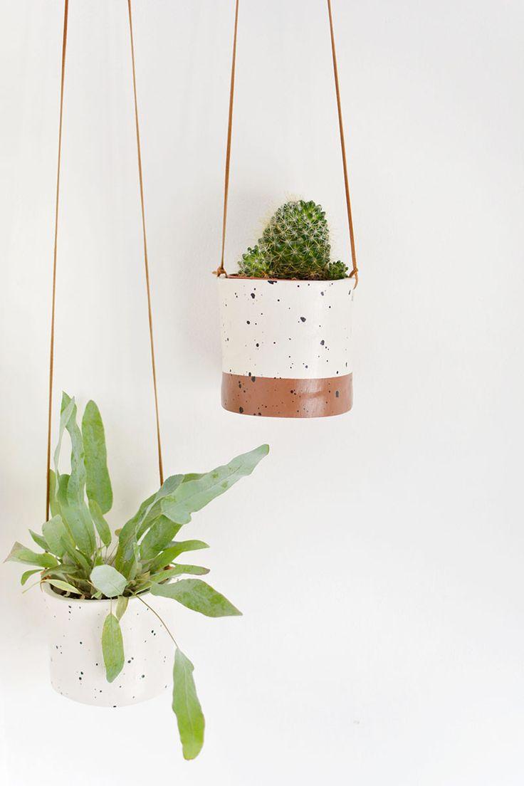 #DIY ceramic hanging planters