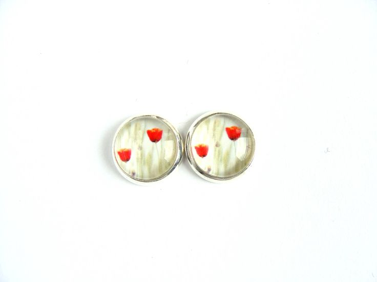 Flowers #2 Stud Earrings by CarolinePrecjoza on Etsy