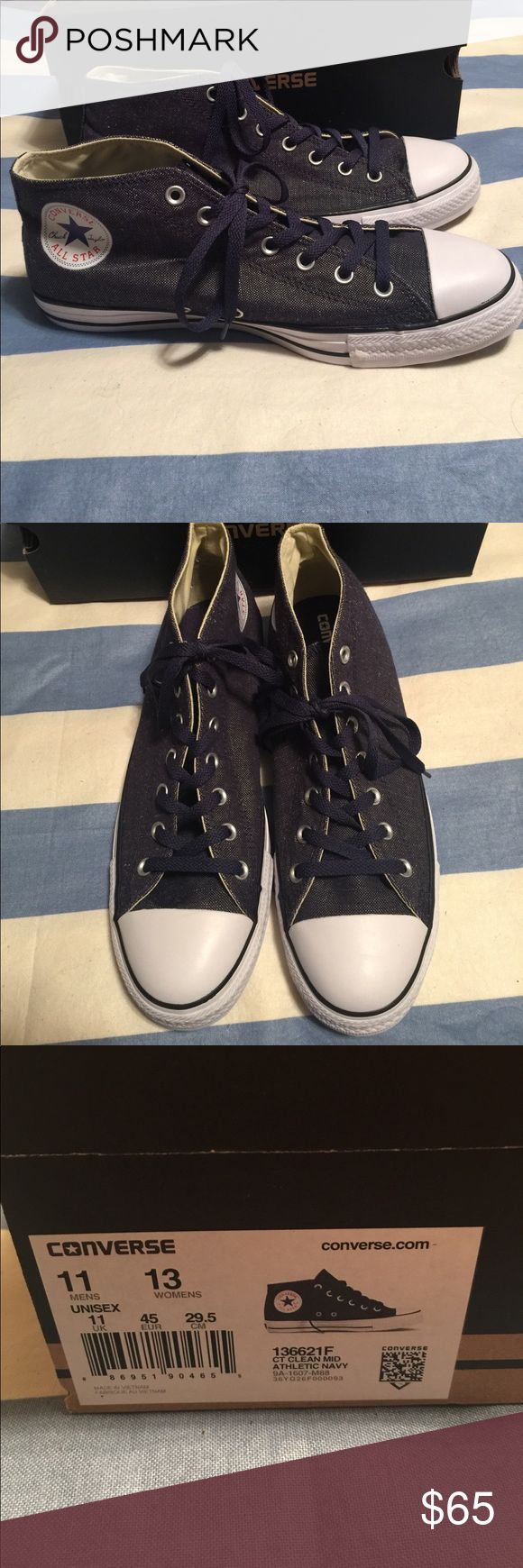 Mens Converse Mens Converse size 11. NWOT. These look like dark denim and have never been worn. Converse Shoes Sneakers