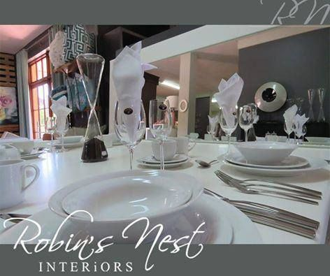 We are passionate about interior design and pour our hearts and souls into every project we take on, like this exquisite table setting. All the cutlery and glasses are in stock at our store. #RobinsNestInteriors #interiordesign #cutlery #decor