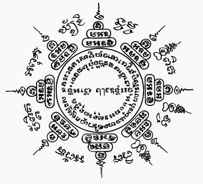 8 Directions Sak Yant [yantra tattoo] Muay Thai tattoo
