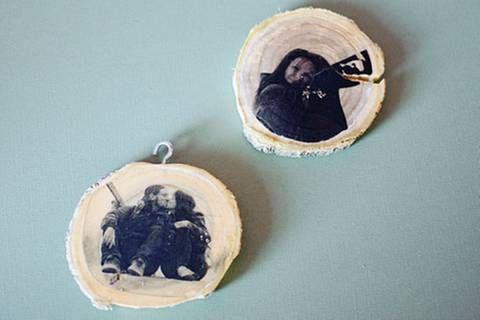 Weihnachts-Bloggerei: Baumschmuck aus Holz: Erinnerung an schöne Momente