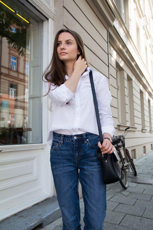 boyfriend style jeans #white #shirt #boyfriend #jeans #copenhagen