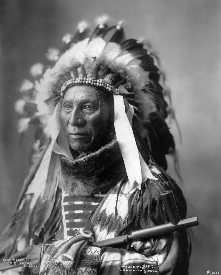 Conquering Bear. An Oglala Sioux man. 1899. Photo by F.A. Rinehart.