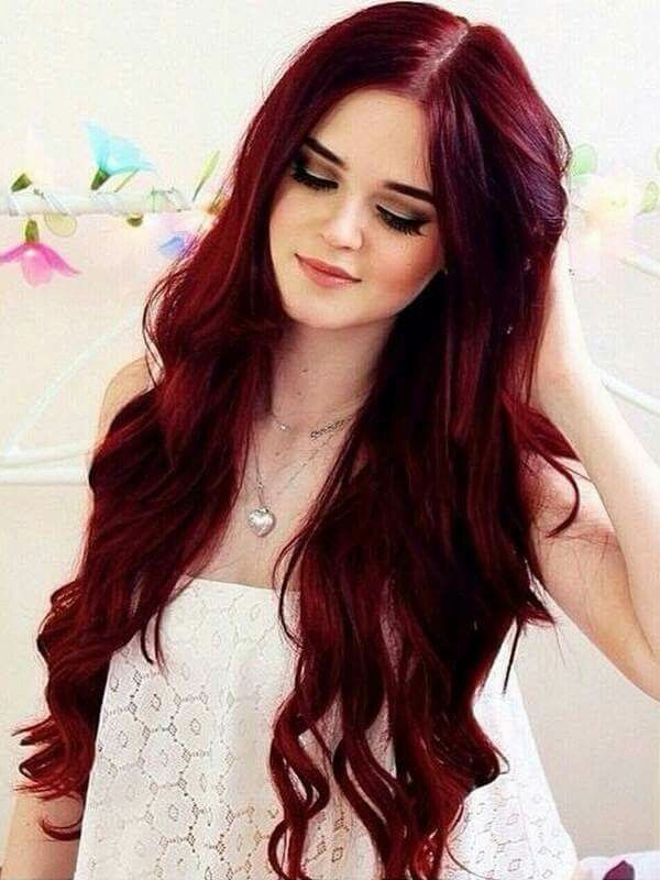 Rojo intenso cabello