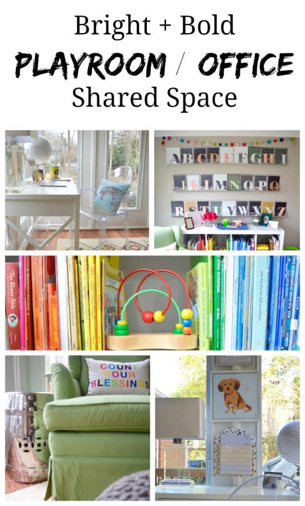 our shared a combo office and playroom b