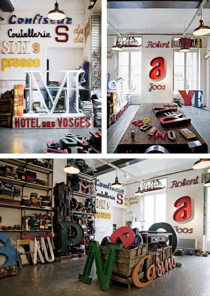 KIDIMO, boutique de lettres de l'alphabet, 227 rue de St Denis, 75002 Paris