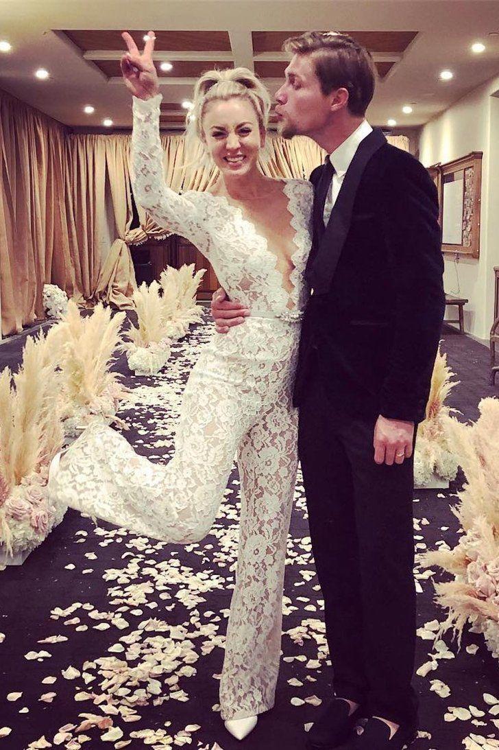 a7ba03e82b0 Kaley Cuoco s Sheer Wedding Dress Was Absolutely Breathtaking
