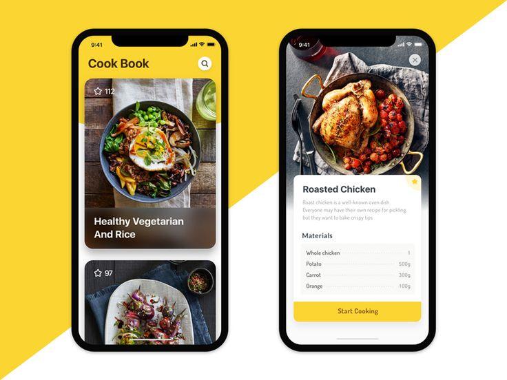 Cook Book App Design