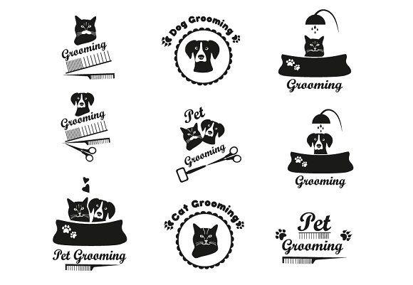 Pet grooming label by Sveta  on @creativemarket