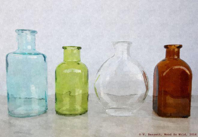 Still Life: Bottles photograph by Valerie Barrett © 2016 V. Barrett.