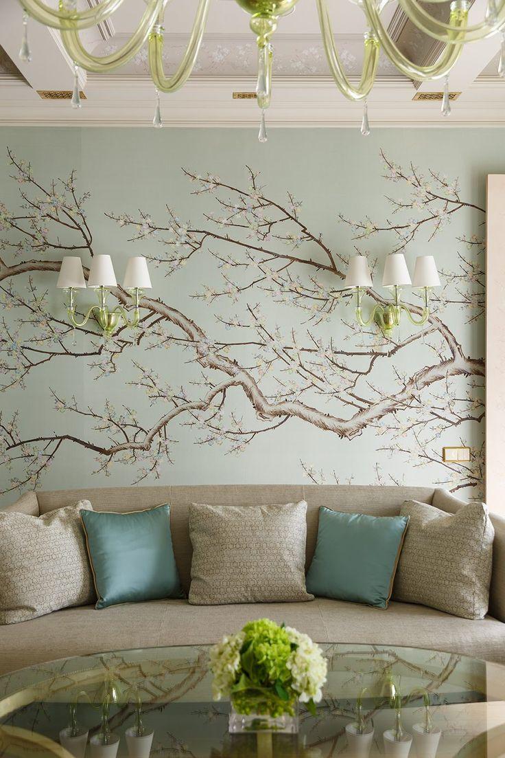 prunus - 20th century, Handmade Wallpaper - Fromental