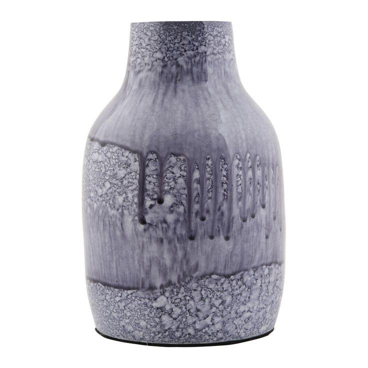 Modrá váza House Doctor Sally, 14 cm