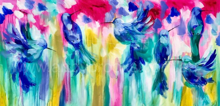 Free float - original on canvas 75 x150 cm